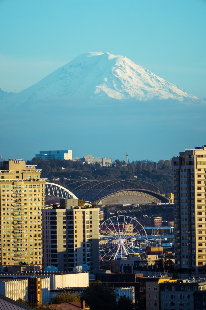 Mt. Rainier, the perfect backdrop for a city!