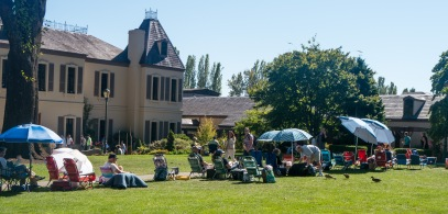 Chateau Ste. Michelle Winery - early birds for the evening concert.